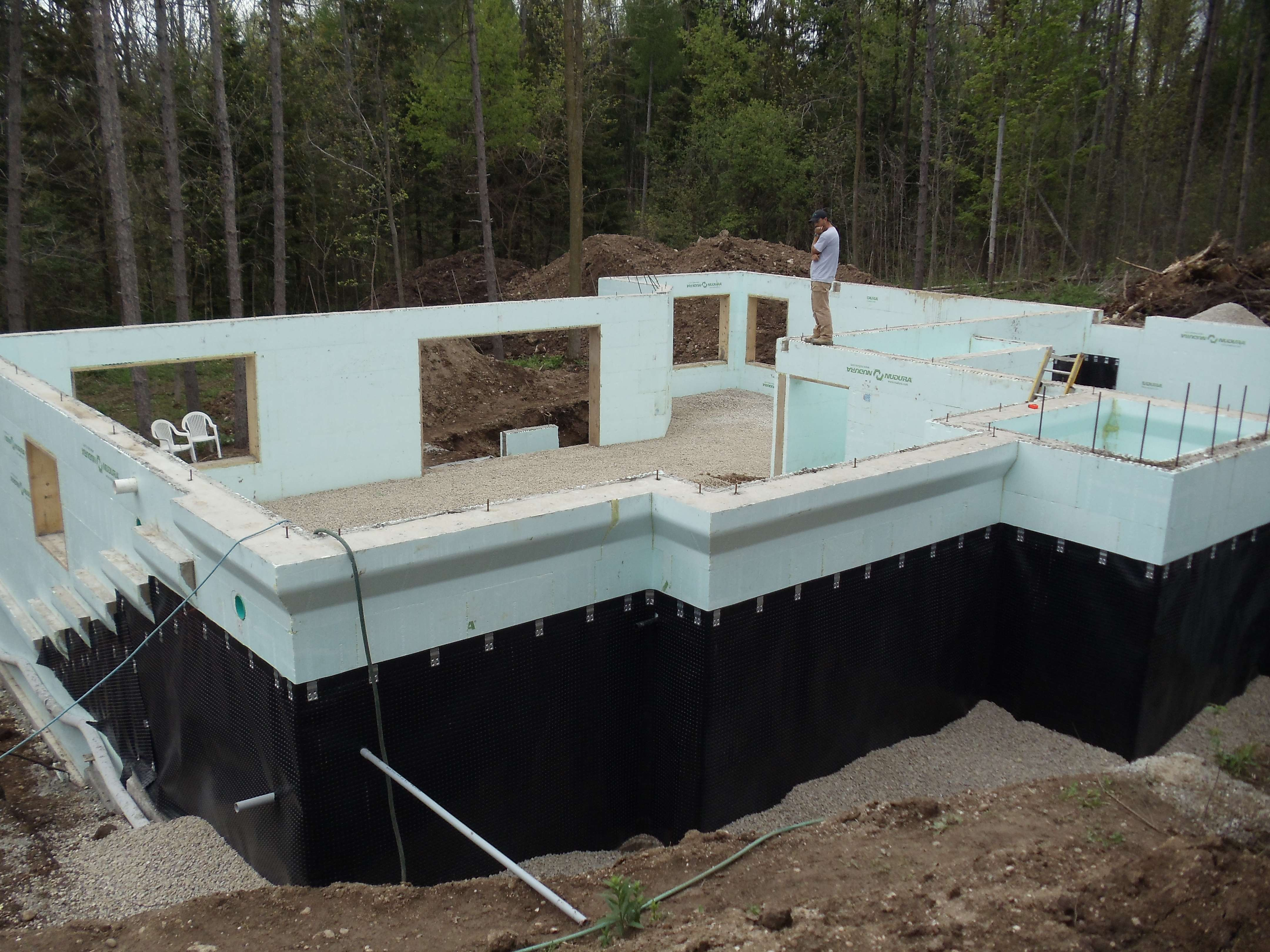Lockington homes insulated concrete forming for Icf basement